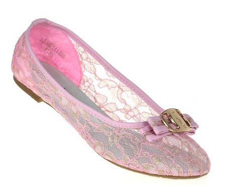 Женские балетки LAURA pink!