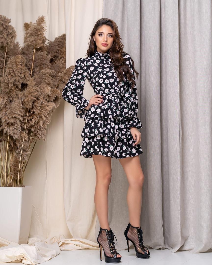 Платье женское в цветочек