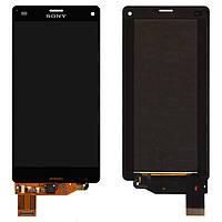 Дисплейный модуль (дисплей + сенсор) для Sony Xperia Z3 Compact D5803 / D5833, черный, оригинал