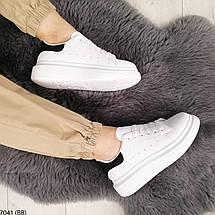 Білі кросівки з чорним задником, фото 3