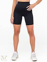 Шорты спортивные женские черные с высоким поясом Bicycle