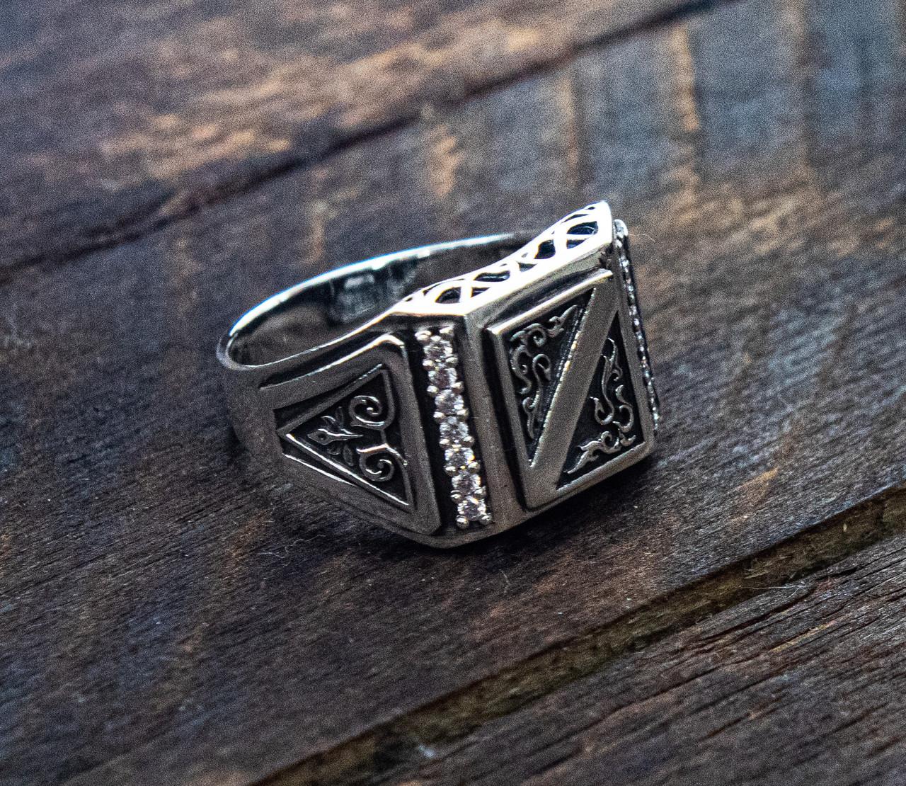 Печатка мужская серебряная Филигрань 30090