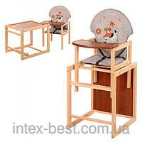Детский деревянный стульчик для кормления M V-010-26-6
