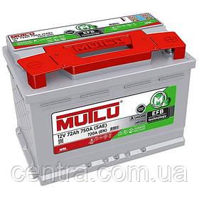 Автомобильный аккумулятор MUTLU 6СТ-72 EFB.L3.72.072.A