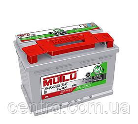 Автомобильный аккумулятор MUTLU 6СТ-65 EFB.LB3.65.065.A