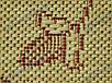 """Коврик - рогожка Сизаль """"Цветочный узор"""" цвет-натуральный красный. Рогожка цена Киев, фото 6"""
