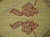 """Коврик - рогожка Сизаль """"Цветочный узор"""" цвет-натуральный красный. Рогожка цена Киев, фото 8"""