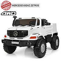 Детский электромобиль Mercedes benz c пультом Bambi M 3990 EBLR-1 белый | Дитячий електромобіль Бембі білий
