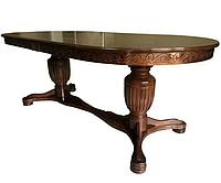 Стол деревянный в гостиную Валорсин темный орех
