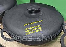 Казан каструля чавунна WOK з чавунною кришкою (5,5 л) печі, мангал