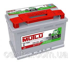 Автомобильный аккумулятор MUTLU 6СТ-75 EFB.LB4.75.073.A