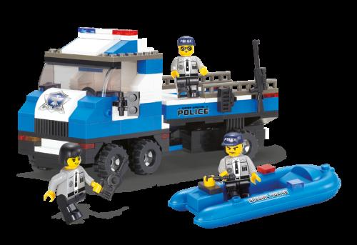 Конструктор SLUBAN Полицейский спецназ M38-B0186R, 202 детали