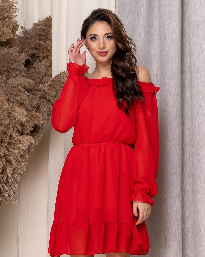 Платье женское из шифона