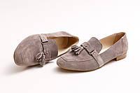 Туфли женские, бежевые (замша) Crozali