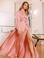 Шелковое платье на запáх. Праздничное платье. Женская одежда