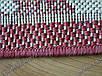 """Коврик - рогожка Сизаль """"Цветочный узор"""" цвет-натуральный красный. Рогожка цена Киев, фото 7"""