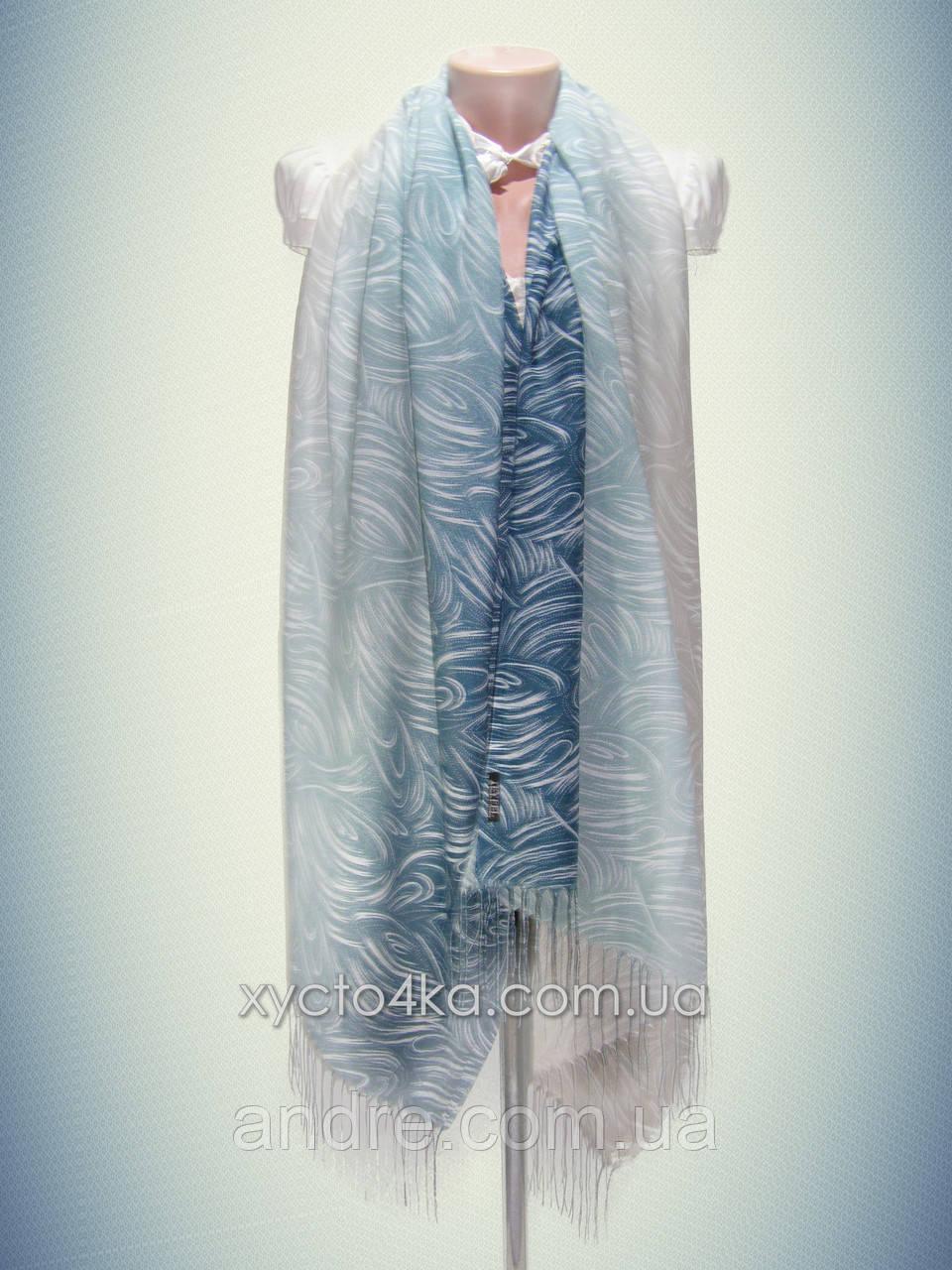 Лёгкий натуральный шарф Снеп, индиго
