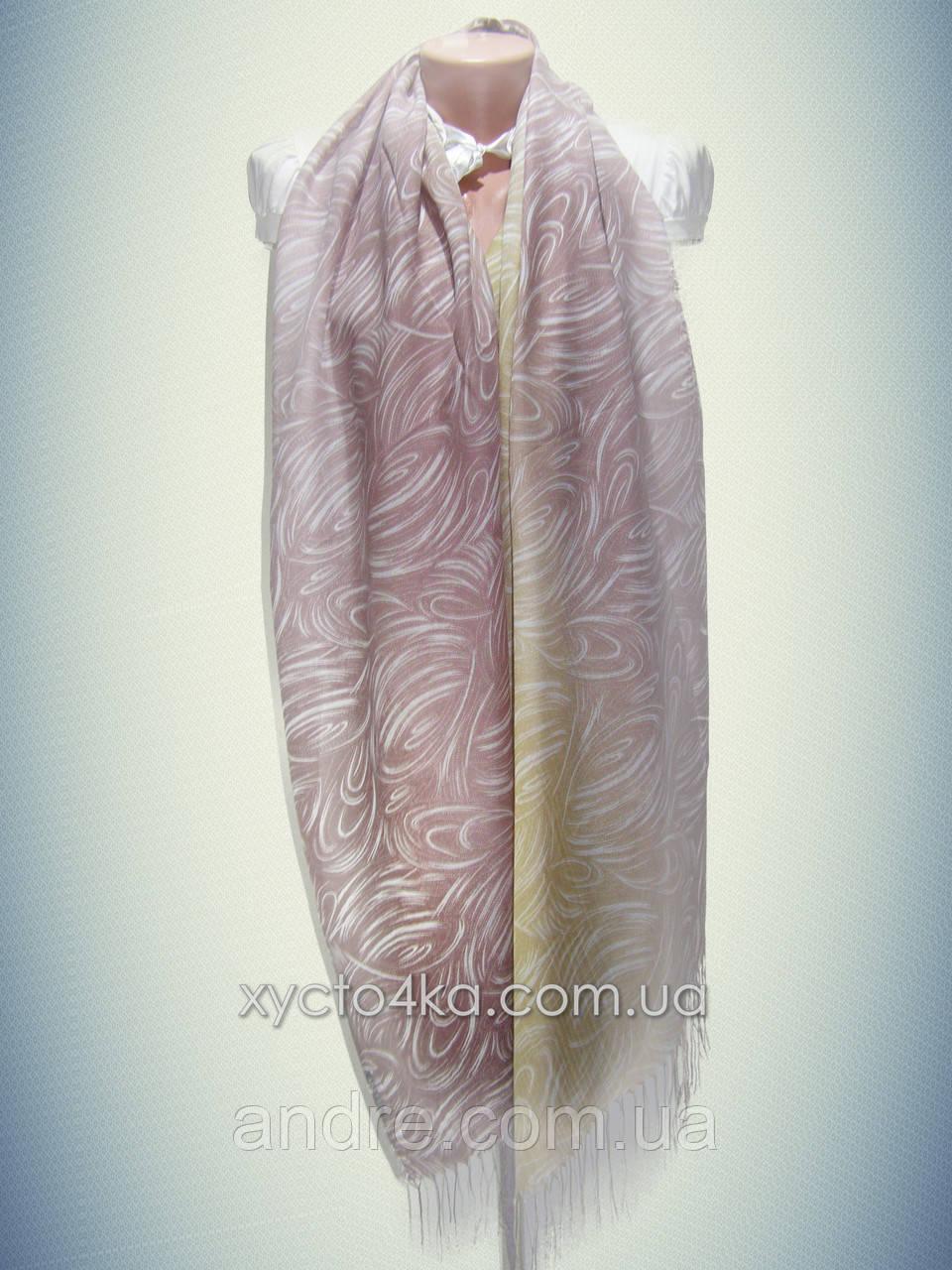 Лёгкий натуральный шарф Снеп, коричневый