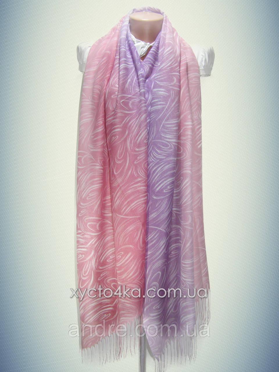 Лёгкий натуральный шарф Снеп, сиреневый