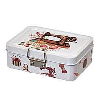 Железная коробочка для швейных принадлежностей и других мелочей  12х9х5 см