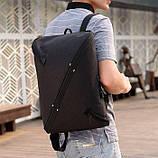 Рюкзак городской UNO c выходом для USB и наушников Black, фото 5