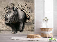 3д фотообои Носорог