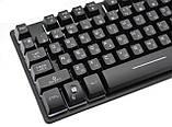 Клавиатура ZYG-800 с подсветкой USB Black, фото 5