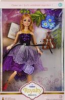 Кукла шарнирная с аксессуарами.Игровой набор для куклы.Кукла тип Барби. Сиреневый