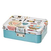 Жестяная коробочка для швейных принадлежностей и других мелочей  12х9х5 см