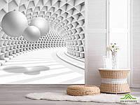 3д фотообои Тоннель с шарами