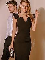 Эффектное черное платье. Вечернее платье. Женская одежда