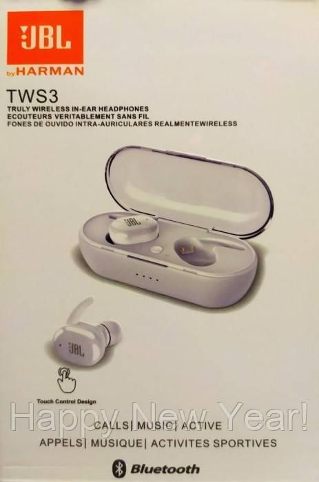 Гарнитура для телефона TWS-3 / блютуз наушники с зарядным кейсом Bluetooth 5.0