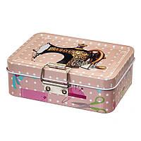 Жестяная коробочкаа для хранения швейных принадлежностей 12х9х5 см