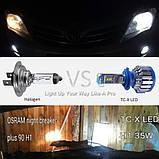 Комплект LED ламп для авто Ближний/Дальний TurboLED T1 H11, светодиодные лампы в авто, передний свет, фото 5