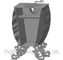 Печь с варочной панелью конвекция, дожиг газов, фото 2