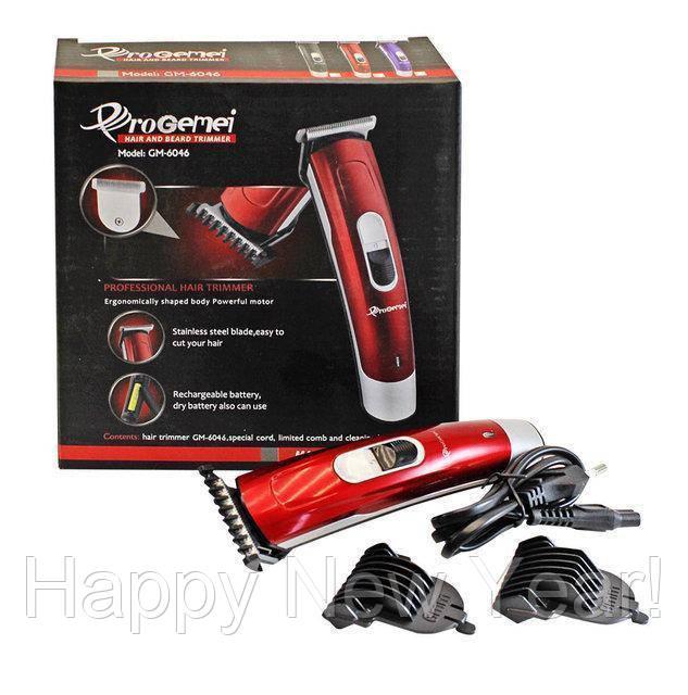 Аккумуляторная машинка для стрижки волос Gemei GM-6046