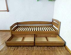 """Детская кровать из массива дерева с ящиками от производителя """"Марта"""" (светлый дуб), фото 2"""