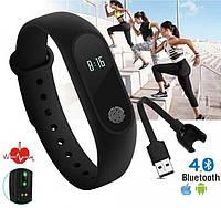 Фитнес-часы М4 смарт браслет SmartWatch Bluetooth 5.0 треккер, сенсорные Умные фитнес часы (А1)