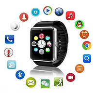 Смарт-часы Smart Watch GT-08 Bluetooth умные часы телефон Black NEW + USB кабель (1717DM)