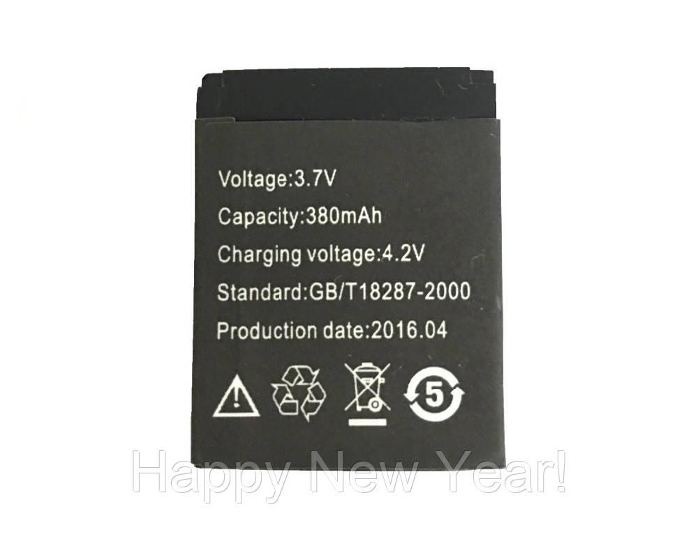 Аккумулятор для смарт-часов UWatch A1/DZ09/GT08/X6 380 mAh