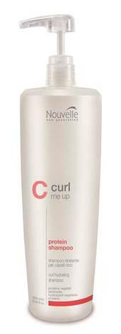 Шампунь протеиновый питающий для поврежденных волос Nouvelle Curl Me Up Protein Shampoo 1000 мл, фото 2
