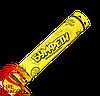 Пневмохлопушка жовте конфетті, довжина хлопавки: 30 сантиметрів, начинка: жовте паперове конфеті