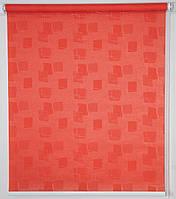 Готовые рулонные шторы Ткань Топаз Терракот 1025*1500