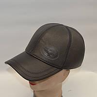 Натуральная кожаная мужская кепка с ушками