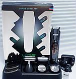 Набор для стрижки волос и бороды VGR navigator V-012 Professional Grooming Kit 6 в 1, фото 4
