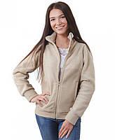 Теплая женская кофта на молнии (размеры XS-3XL в расцветках) бежевый, XS