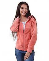 Теплая женская кофта на молнии (размеры XS-3XL в расцветках) персиковый, 3XL