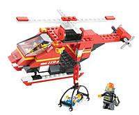 Конструктор SLUBAN Пожарные спасатели Вертолет M38-B0218R, 155 деталей