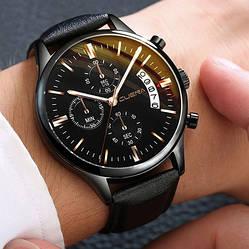 Мужские наручные часы черного цвета (ч-41)