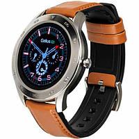 Умные часы (Smart Watch) Gelius Pro GP-L3 (URBAN WAVE 2020) с функцией пульсоксиметра, Silver / Brown